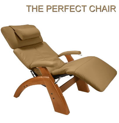 Picture of The Perfect Chair. Shown in Mocha leather pad set.